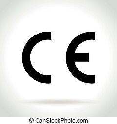 상징, 비슷함, 백색 배경, european