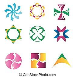 상징, 성분, -, 창조, 디자인