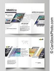 상징, 스타일, 벡터, 사업, elements., 최소한 요구의 용인으로 만족하는 사람, 떼어내다, editable, 배경, layout., 은 일렬로 세운다, infographic, 디자인, 도표, 쉬운, 소책자, tri-fold, 다채로운, 다른, 그림, templates.