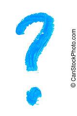 상징, 질문, 고립된, 표
