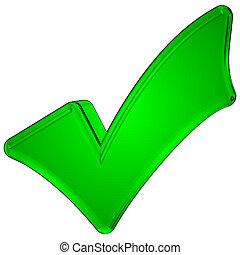 상징, 3차원, 녹색, 대조 표시