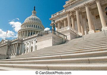 상태, 결합되는, 국회 의사당