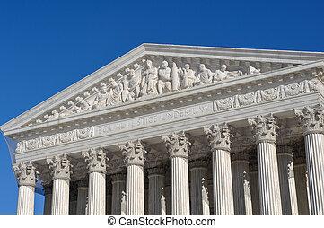 상태, 최고도, 결합되는, 법정