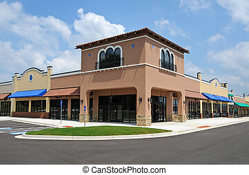 새로운, 길쭉한 조각 쇼핑 센터