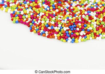 색종이 조각, 다채로운, 사탕, 배경, 백색