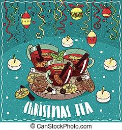 색종이 조각, 차, 크리스마스, 장난감