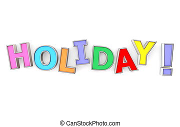 색채가 풍부한, 휴일