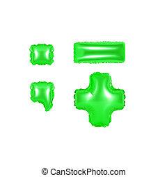 색, 구두점, 부분, 녹색, 2, 기호