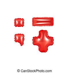 색, 구두점, 부분, 2, 기호, 빨강