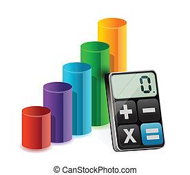 색, 그래프, 와..., 현대, 계산기