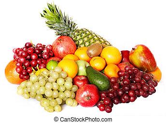 색, 그룹, fruit.