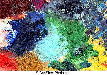색, 예술, 배경