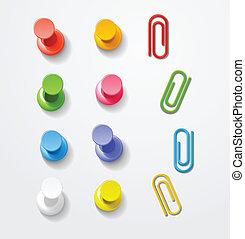 색, 핀, 와..., 클립, 수집
