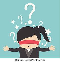 생각하는 여성, 질문, 배경, 표