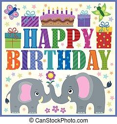 생일, 구성, 행복하다