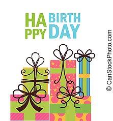생일, 디자인, 행복하다