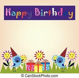 생일, 배경, 행복하다
