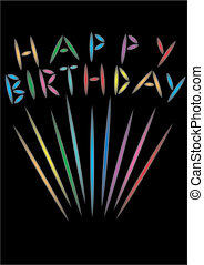 생일, 불꽃 놀이, 행복하다