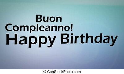 생일, 생기, 행복하다