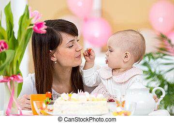 생일, 어머니, 아기, 휴일, 기념일을 축하하다, 처음