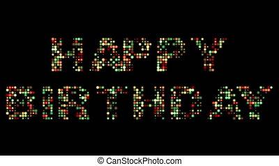 생일 축하합니다, 다채로운, 이른다, 표시