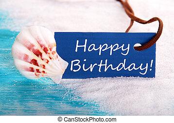 생일 축하합니다, 에서, 바닷가, 배경