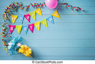 생일 축하합니다, 파티, 배경, 와, 원본, 와..., 다채로운, 도구