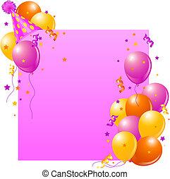 생일 카드, 핑크