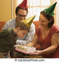 생일, 파티., 가족