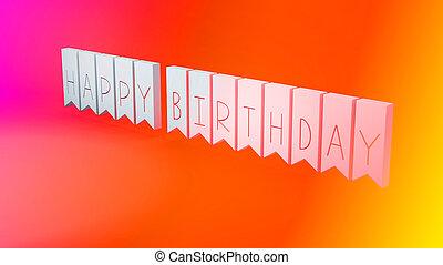 생일, 행복하다, 메시지