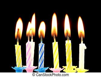 생일, candles.