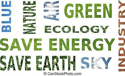 생태학, -, 고립된, 낱말, 한 입 가득, 백색, 인식