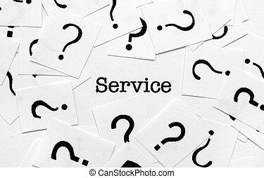 서비스, 와..., 물음표