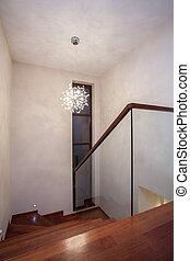 석회화, 집, -, 계단