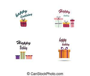 선물, 벡터, 생일