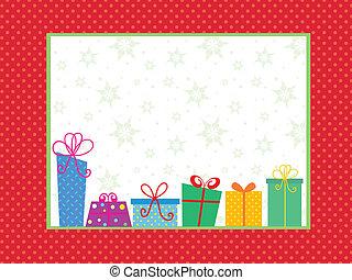 선물, 크리스마스, 배경