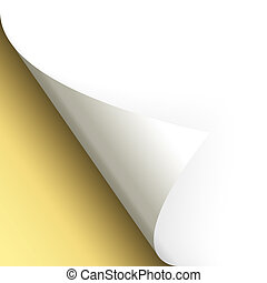 선반 세공, 금, 바닥, 위의, /, 종이, 페이지, 좌파