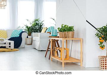 선반, 에서, 아파트