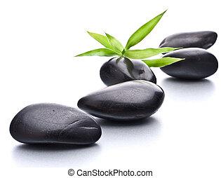 선, pebbles., 돌, 광천, 와..., 건강 관리, concept.