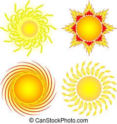 설정되는 태양