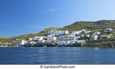 섬, greece., 보이는 상태, 바다, kythnos