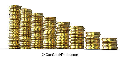 성공, 또는, drop:, 황금, 은 화폐로 주조한다, 더미