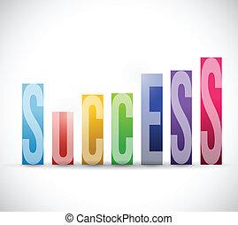 성공 색, 그래프, 삽화, 디자인