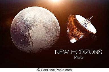 성분, 공급된다, 지평선, 심상, -, spacecraft., nasa., 명왕성, 이것, 새로운