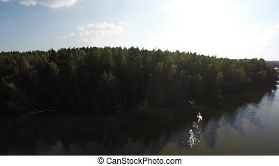 성역, 호수, 운명짓다, aerial., naroch, 운명짓다, 의, belarus.