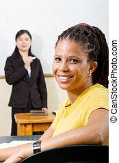 성인 학생, 에서, 교실