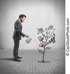 성장하는, 회사