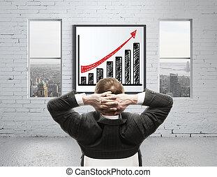 성장 도표, 통하고 있는, 포스터