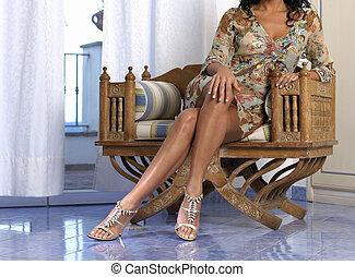 성적 매력이 있는, 다리