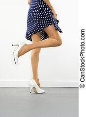 성적 매력이 있는, 여자, legs.